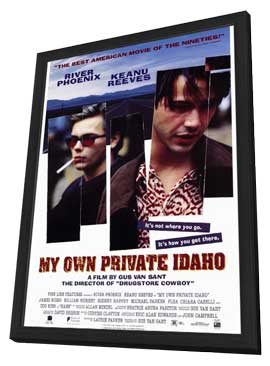 My Own Private Idaho - 27 x 40 Movie Poster - Style A - in Deluxe Wood Frame