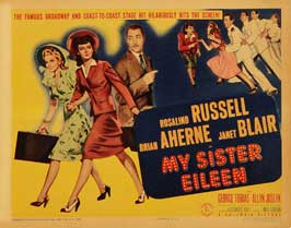 My Sister Eileen - 22 x 28 Movie Poster - Half Sheet Style B