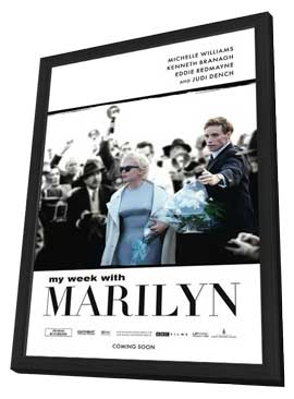 My Week with Marilyn - 27 x 40 Movie Poster - Style A - in Deluxe Wood Frame