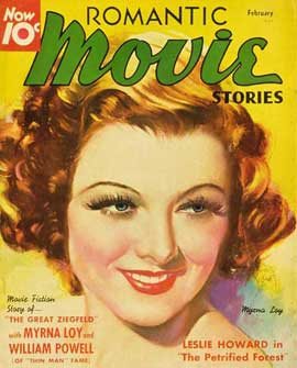 Myrna Loy - 27 x 40 Movie Poster - Romantic Movie Stories Magazine Cover 1930's Style B