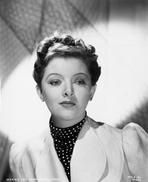 Myrna Loy - Myrna Loy Portrait in Dotted Sweater
