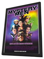 Mystery Men - 27 x 40 Movie Poster - Style A - in Deluxe Wood Frame