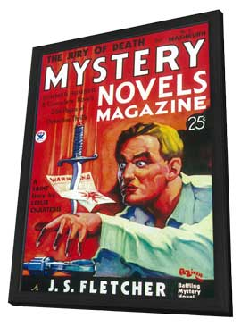 Mystery Novels Magazine (Pulp) - 11 x 17 Pulp Poster - Style A - in Deluxe Wood Frame