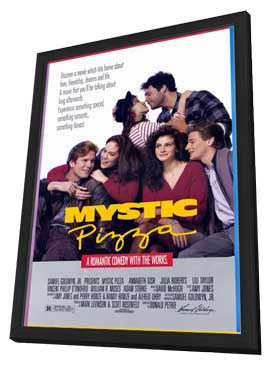 Mystic Pizza - 11 x 17 Movie Poster - Style A - in Deluxe Wood Frame
