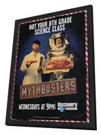 MythBusters - 11 x 17 TV Poster - Style A - in Deluxe Wood Frame