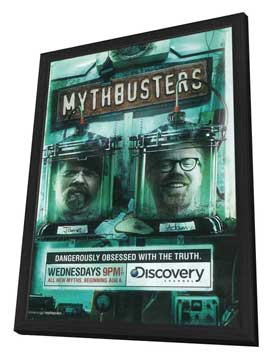 MythBusters - 11 x 17 TV Poster - Style C - in Deluxe Wood Frame