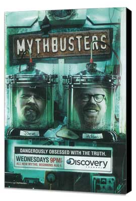 MythBusters - 11 x 17 TV Poster - Style C - Museum Wrapped Canvas
