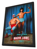 Nacho Libre - 11 x 17 Movie Poster - Style C - in Deluxe Wood Frame