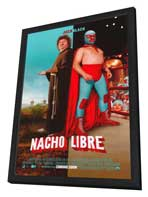 Nacho Libre - 27 x 40 Movie Poster - Style A - in Deluxe Wood Frame