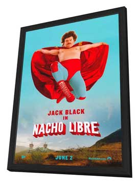 Nacho Libre - 11 x 17 Movie Poster - Style B - in Deluxe Wood Frame