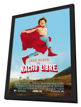 Nacho Libre - 27 x 40 Movie Poster - Style C - in Deluxe Wood Frame