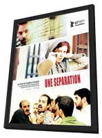 Nader and Simin, a Separation - 11 x 17 Movie Poster - French Style A - in Deluxe Wood Frame