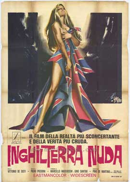 Naked England - 11 x 17 Movie Poster - Italian Style A