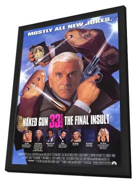 Naked Gun 33 1/3: The Final Insult - 11 x 17 Movie Poster - Style A - in Deluxe Wood Frame