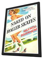 Naked on Roller Skates - 11 x 17 Retro Book Cover Poster - in Deluxe Wood Frame