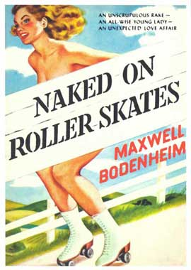 Naked on Roller Skates - 11 x 17 Retro Book Cover Poster