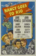 Nancy Goes to Rio - 27 x 40 Movie Poster - Style A