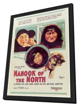 Nanook of the North - 11 x 17 Movie Poster - Style A - in Deluxe Wood Frame