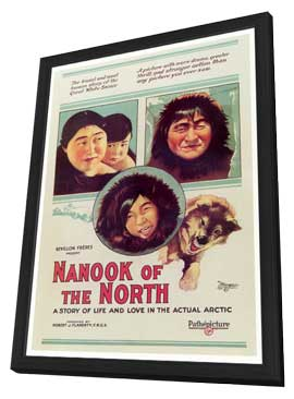 Nanook of the North - 27 x 40 Movie Poster - Style A - in Deluxe Wood Frame