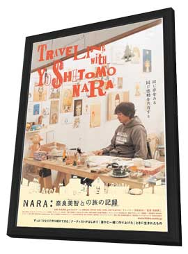 Nara: Nara Yoshitomo to no tabi no kiroku - 11 x 17 Movie Poster - Japanese Style A - in Deluxe Wood Frame