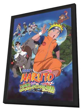 Naruto the Movie 3: Guardians of the Crescent Moon Kingdom - 11 x 17 Movie Poster - Japanese Style A - in Deluxe Wood Frame