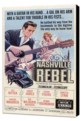 Nashville Rebel - 27 x 40 Movie Poster - Style A - Museum Wrapped Canvas