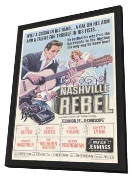 Nashville Rebel - 11 x 17 Movie Poster - Style A - in Deluxe Wood Frame