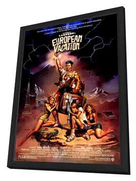 National Lampoon's European Vacation - 27 x 40 Movie Poster - Style A - in Deluxe Wood Frame