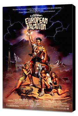 National Lampoon's European Vacation - 27 x 40 Movie Poster - Style A - Museum Wrapped Canvas