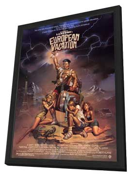 National Lampoon's European Vacation - 11 x 17 Movie Poster - Style A - in Deluxe Wood Frame