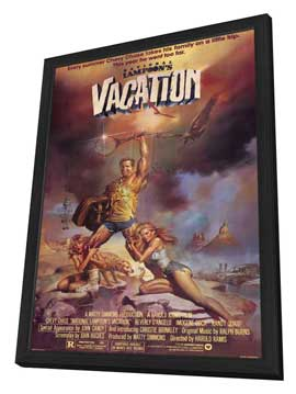 National Lampoon's Vacation - 11 x 17 Movie Poster - Style B - in Deluxe Wood Frame