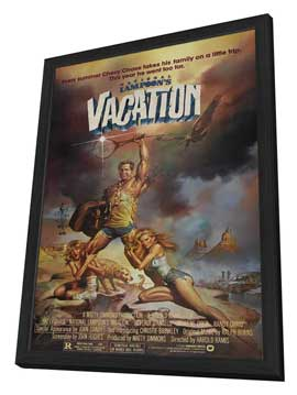 National Lampoon's Vacation - 27 x 40 Movie Poster - Style B - in Deluxe Wood Frame