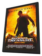 National Treasure - 27 x 40 Movie Poster - Style A - in Deluxe Wood Frame