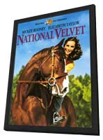 National Velvet - 11 x 17 Movie Poster - Style A - in Deluxe Wood Frame