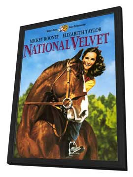 National Velvet - 27 x 40 Movie Poster - Style A - in Deluxe Wood Frame