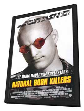 Natural Born Killers - 11 x 17 Movie Poster - Style B - in Deluxe Wood Frame