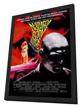 Natural Born Killers - 27 x 40 Movie Poster - Style C - in Deluxe Wood Frame