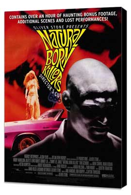 Natural Born Killers - 27 x 40 Movie Poster - Style C - Museum Wrapped Canvas