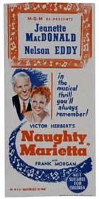 Naughty Marietta - 11 x 17 Movie Poster - Style F