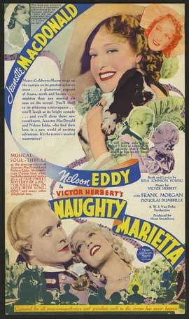 Naughty Marietta - 11 x 17 Movie Poster - Style D