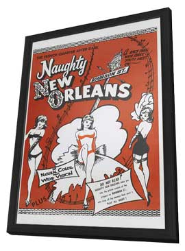 Naughty New Orleans - 11 x 17 Movie Poster - Style B - in Deluxe Wood Frame