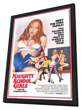 Naughty School Girls - 11 x 17 Movie Poster - Style A - in Deluxe Wood Frame