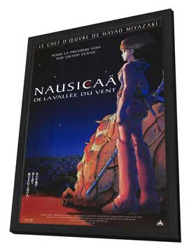 Nausica� of the Valley of the Winds - 11 x 17 Movie Poster - French Style A - in Deluxe Wood Frame