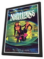 Nautipuss - 11 x 17 Retro Book Cover Poster - in Deluxe Wood Frame