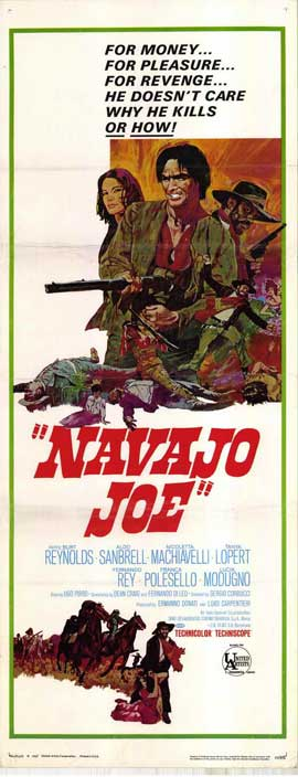 Navajo Joe - 14 x 36 Movie Poster - Insert Style A