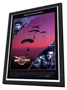 Navy SEALS - 27 x 40 Movie Poster - Style A - in Deluxe Wood Frame