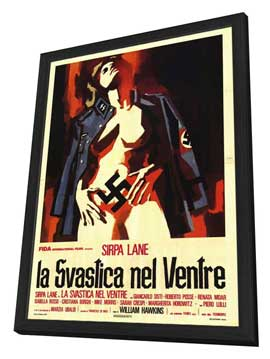 Nazi Love Camp - 27 x 40 Movie Poster - Italian Style A - in Deluxe Wood Frame