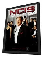 NCIS - 11 x 17 Movie Poster - French Style A - in Deluxe Wood Frame