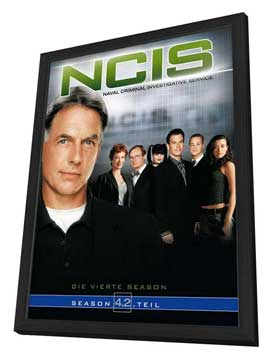 NCIS - 27 x 40 Movie Poster - German Style A - in Deluxe Wood Frame