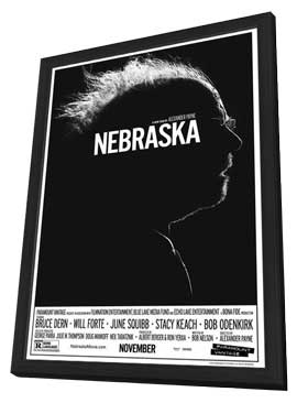 Nebraska - 11 x 17 Movie Poster - Style A - in Deluxe Wood Frame